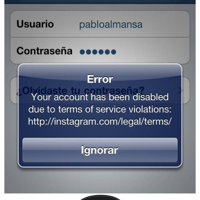 Mama, Instagram removed my account
