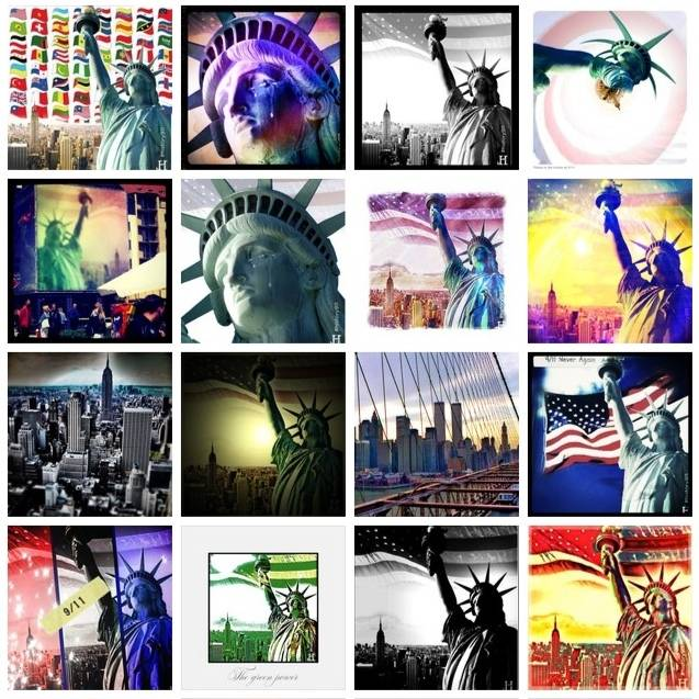 Massive tribute to #911 commemoration on Instagram
