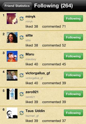InstaFrManager Instagram Followers stats in your Iphone