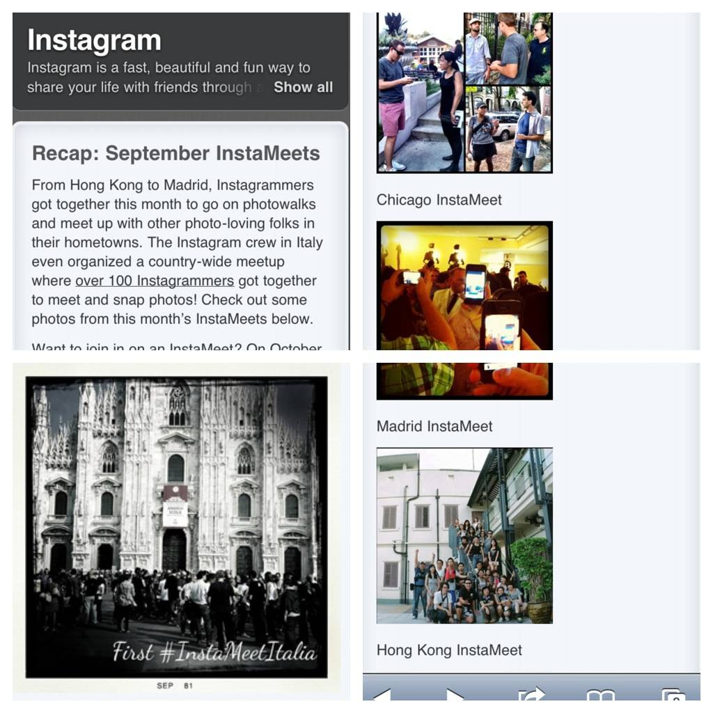 Four Instagramers local groups at Instagram official Blog