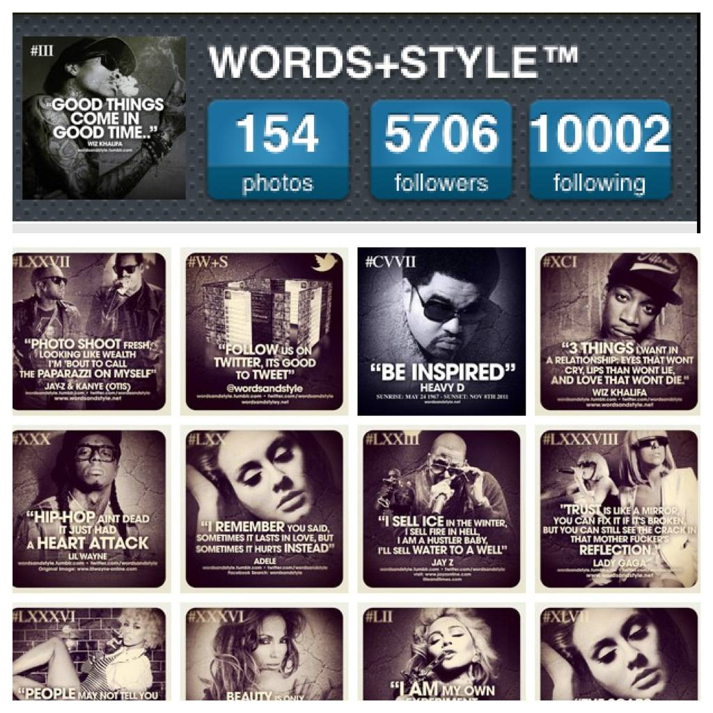 FlashOn Instagramers 1.14: @WordsandStyle