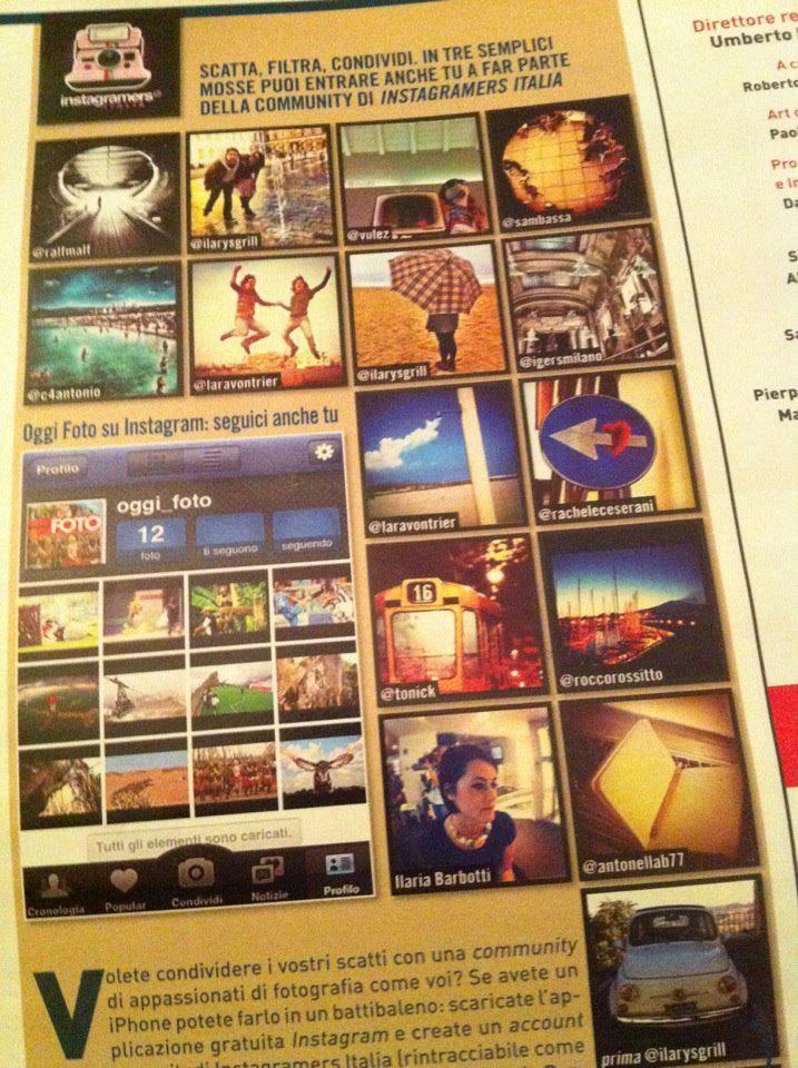 Instagramers Italia su OGGI Magazine.