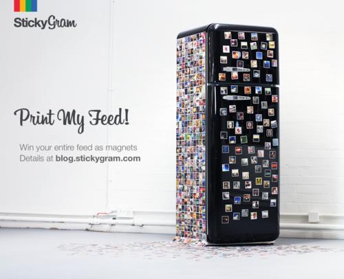 Print my Feed Stickygram Contest Winner on Instagram