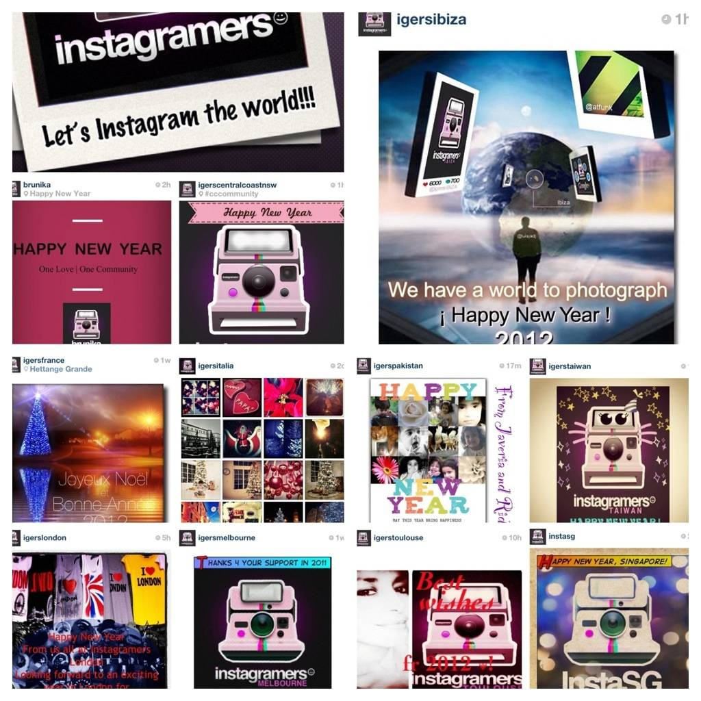 Awesome 2011 in Instagram and Happy New Year 2012!