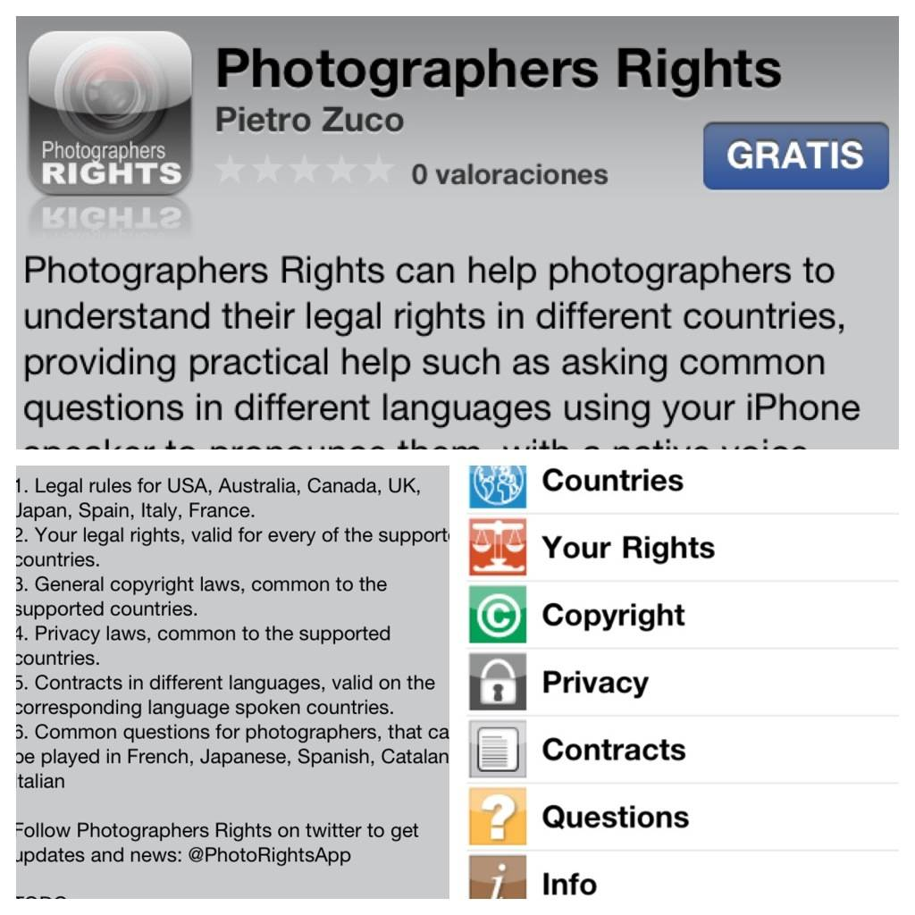 Photographers rights app, a great tool for streetphotographers