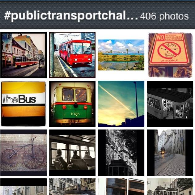 The great world map of public transport in instagram