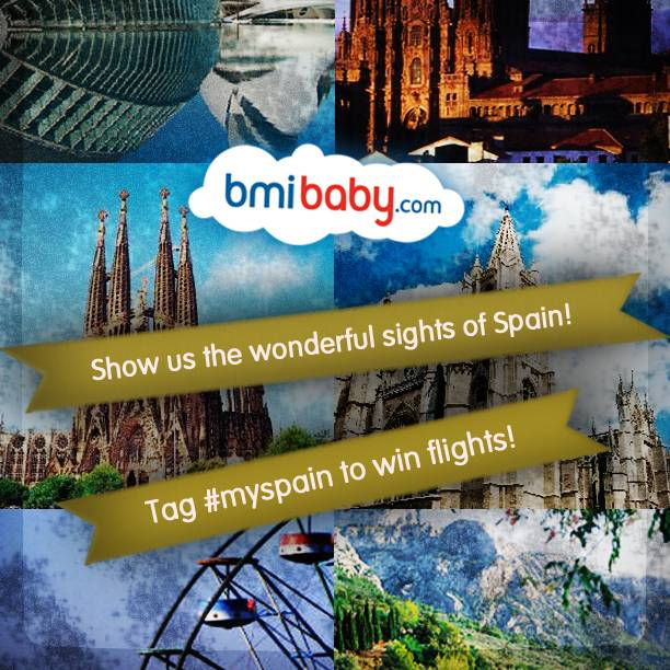 MySpain, nuevo concurso en Instagram. Gana vuelos con bmibaby
