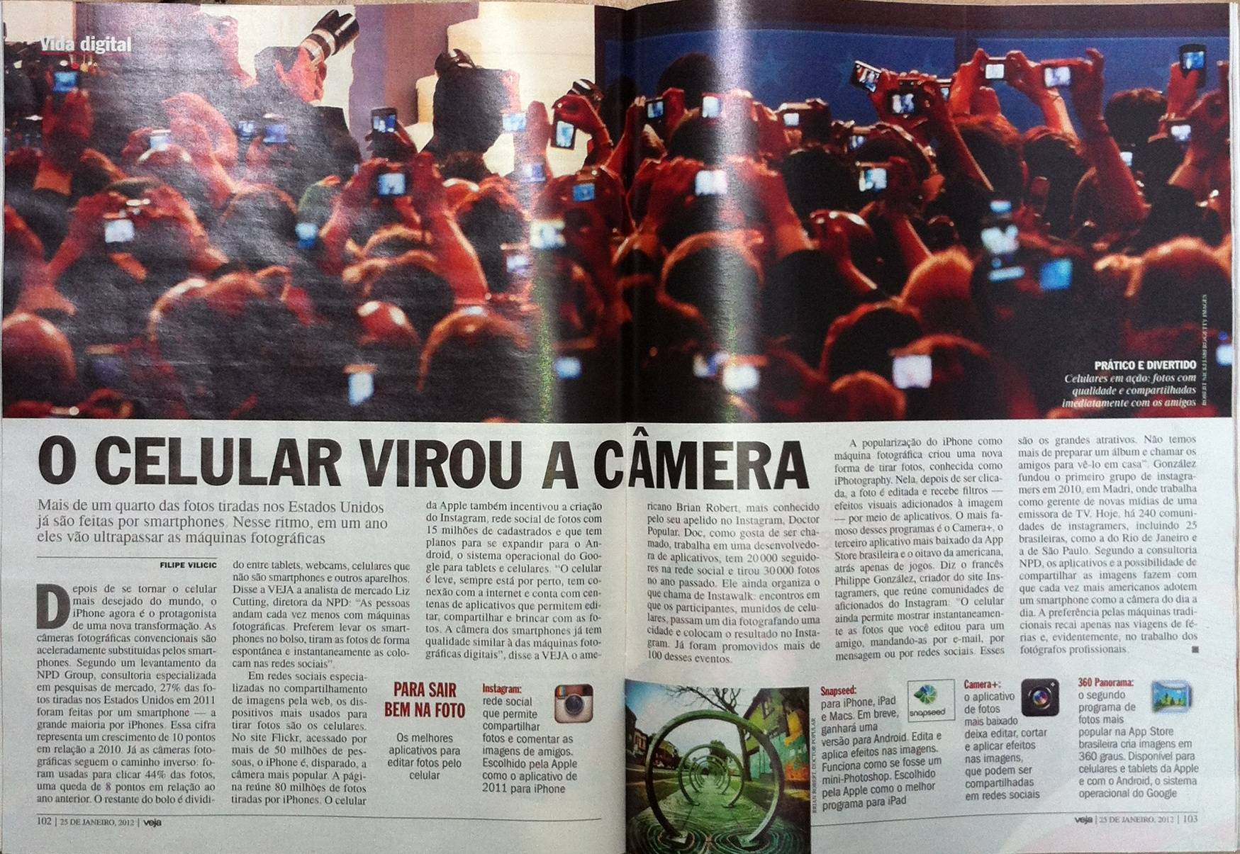 Instagram and Instagramers on Veja Magazine