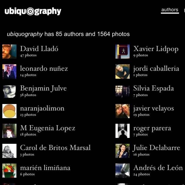 Ubiquography un proyecto fotográfico y participativo