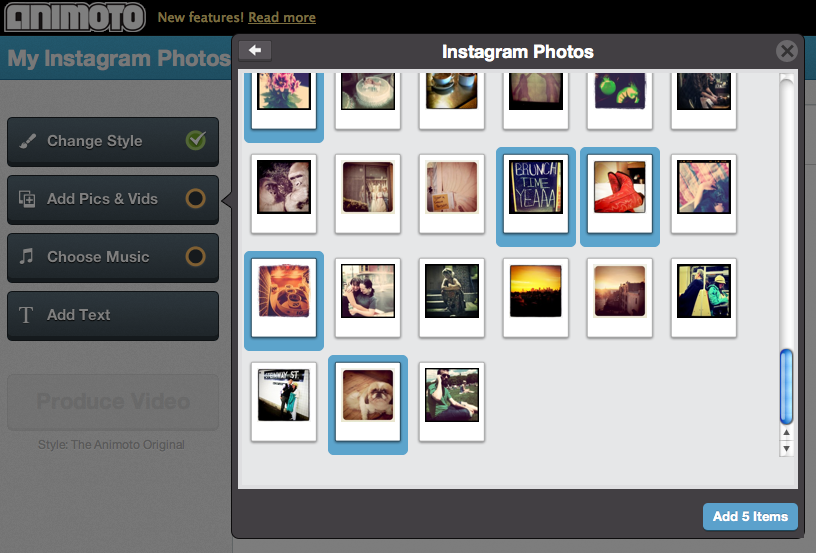 Animoto makes very easy doing videos with your Instagram Pics