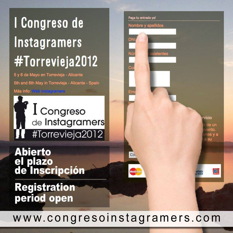 Register now to attend the first Instagramers congress!  #Torrevieja 2012.