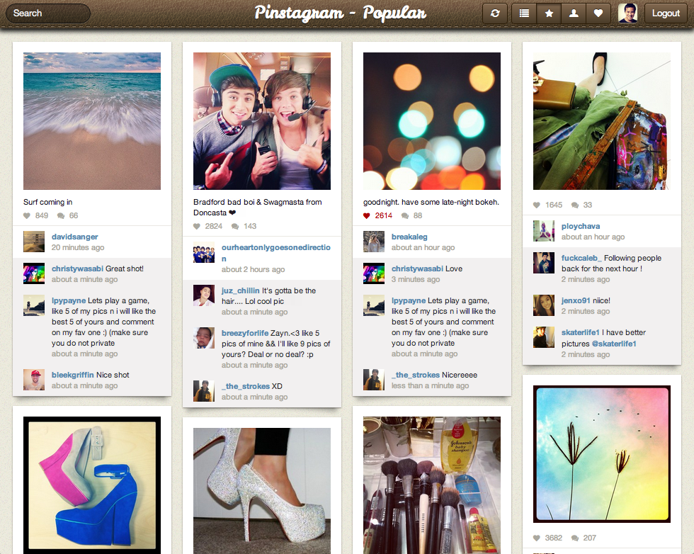 Pinstagram is Pinterest and Instagram baby