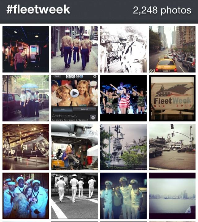 Celebration of Fleet Week New york in Instagram.