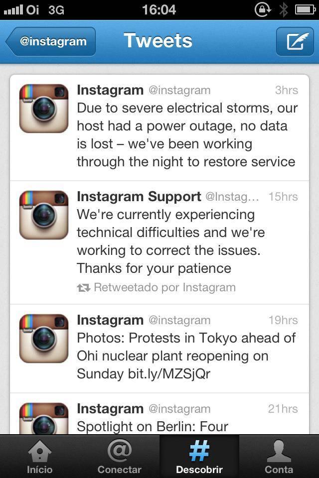 Un fin de semana tormentoso para Instagram