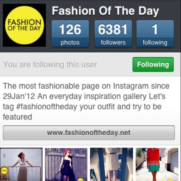 Fashion of the Day, A new place for Fashion and Trends in Instagram