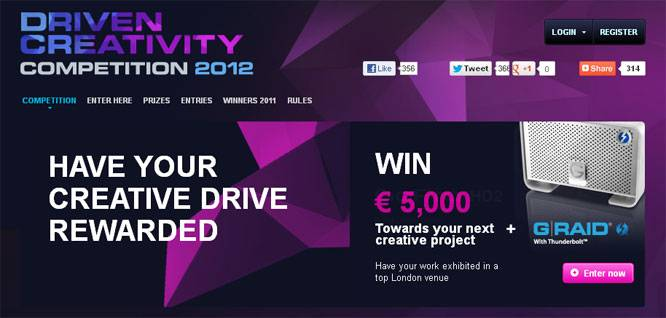 Join the Driven Creativity Competition from G-Technology