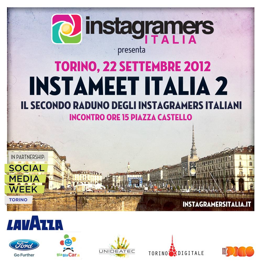 Second Instagramers Italia Instameet next 22, 23 September in Torino