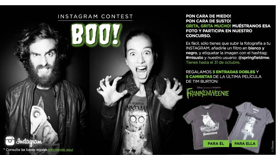 Pón cara de susto y gana el concurso de Springfield en Instagram