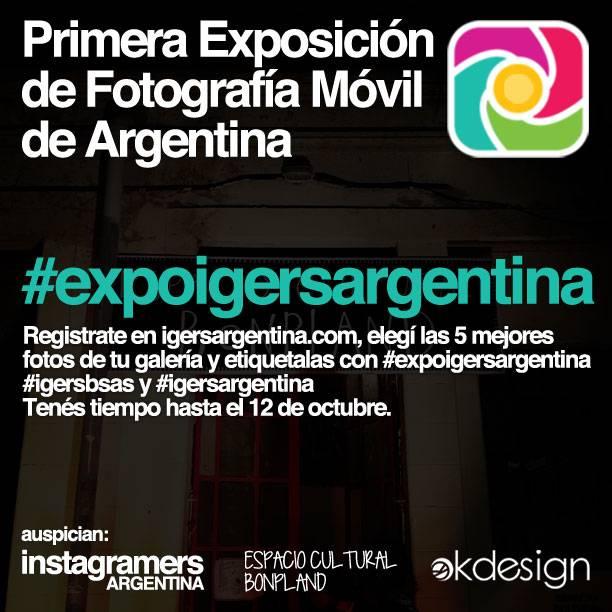 Primera Exposición Colectiva de Fotografía Móvil de Instagram en Argentina