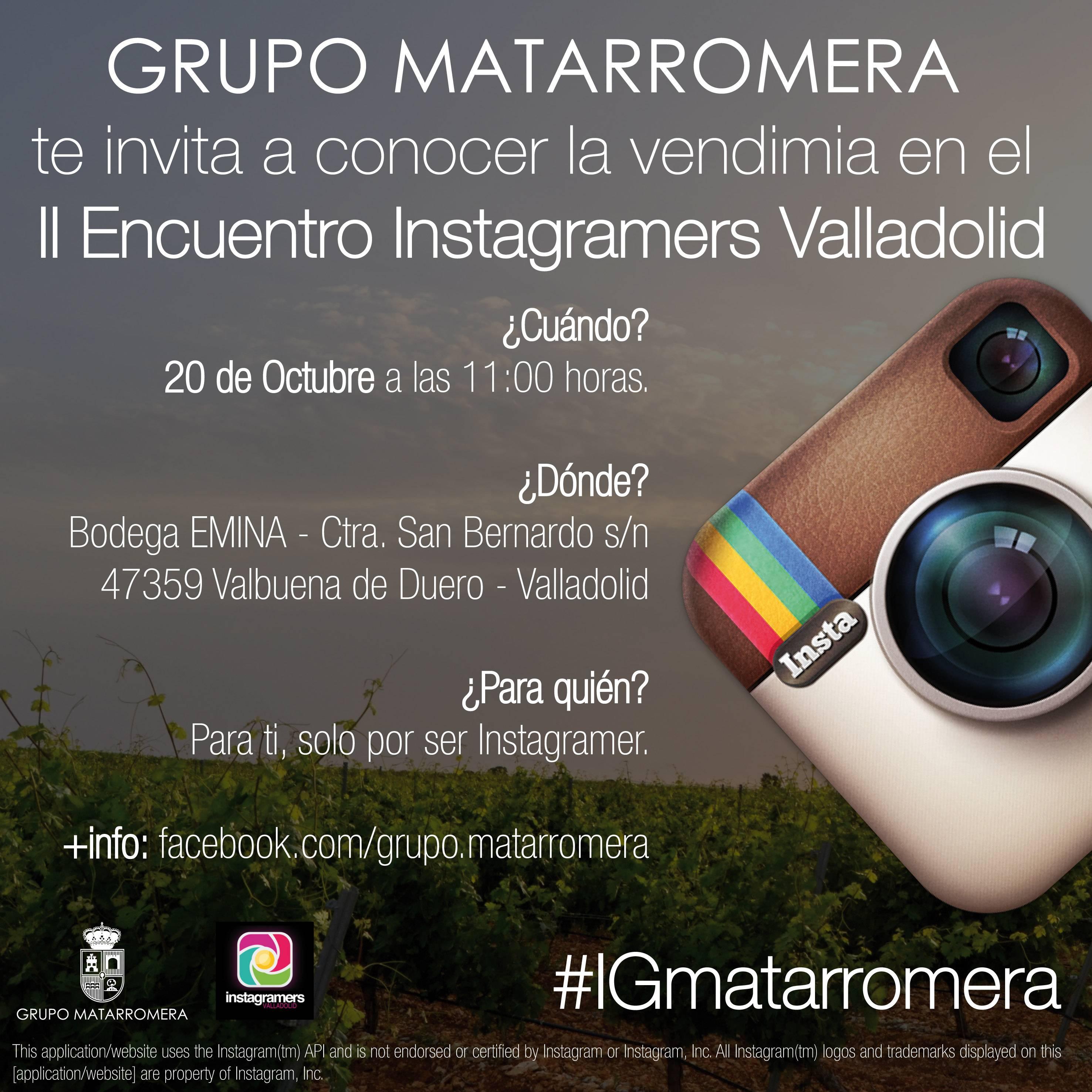 Instagramers Valladolid organiza un Instameet en las bodegas Matarromera