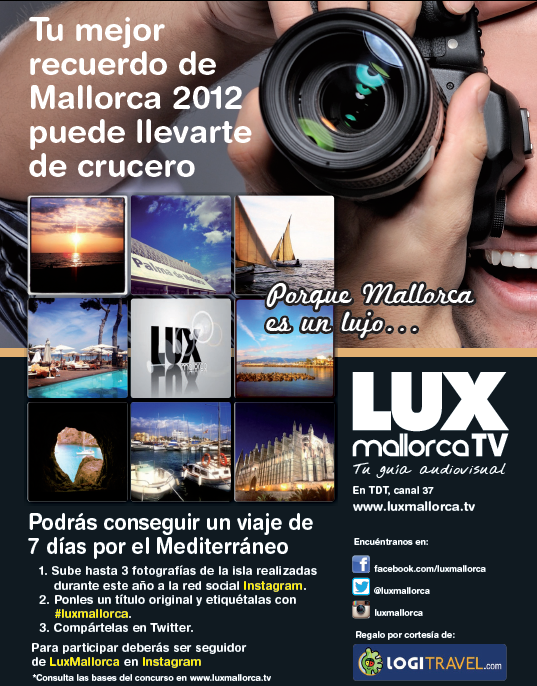 Primer Concurso en Instagram con Lux Mallorca y Logitravel