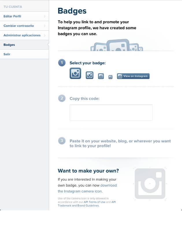 How to Promote your Instagram Account with Instagram Badges in your personal blog
