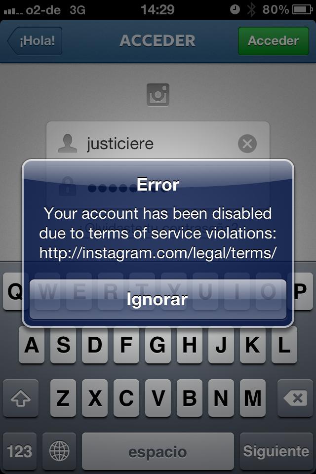 Varias Cuentas de Instagram Eliminadas por usar Direcciones Webs en sus Comentarios