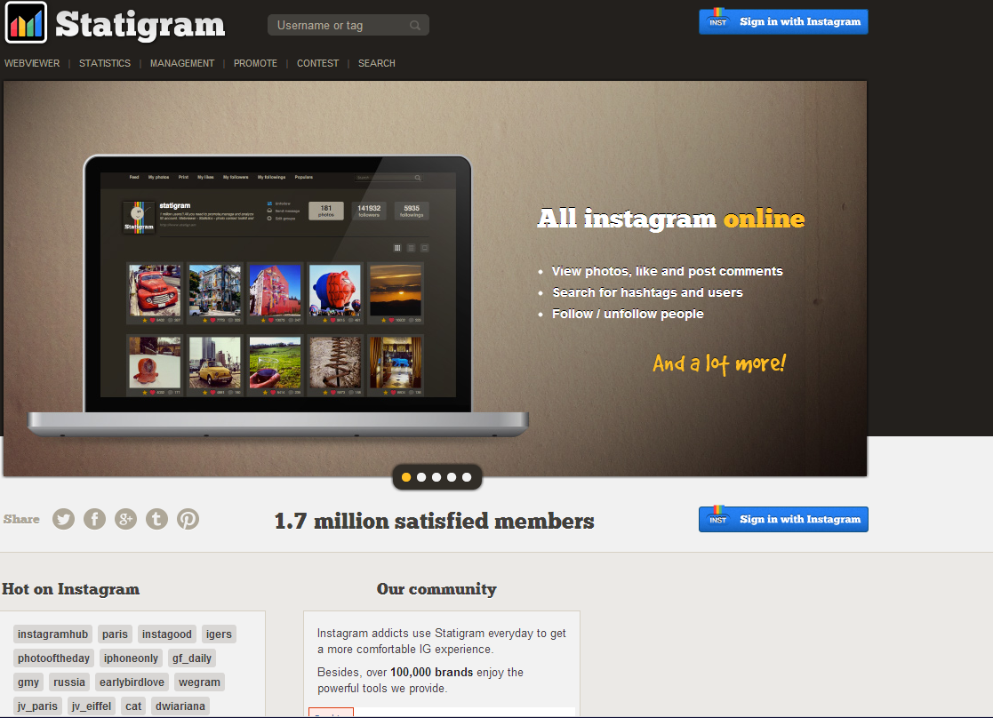New Statigram Hashtag feed and moderation for your Instagram feed on Facebook