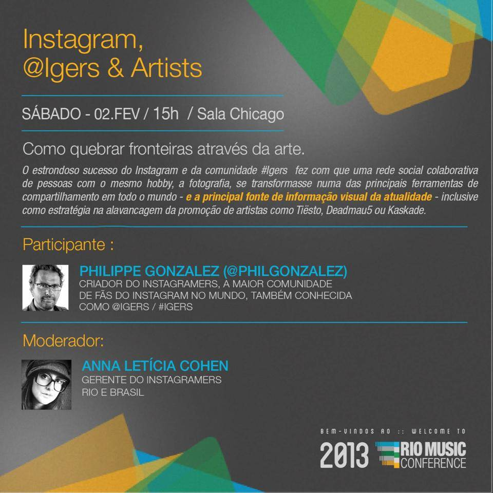 Instagram and Music at Rio Music Conference