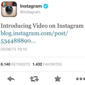 instagram video announcement