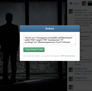 how to embed pics and videos from instagram