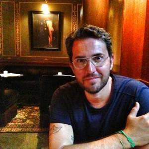Maxim Huerta en el hotel Costes en Paris