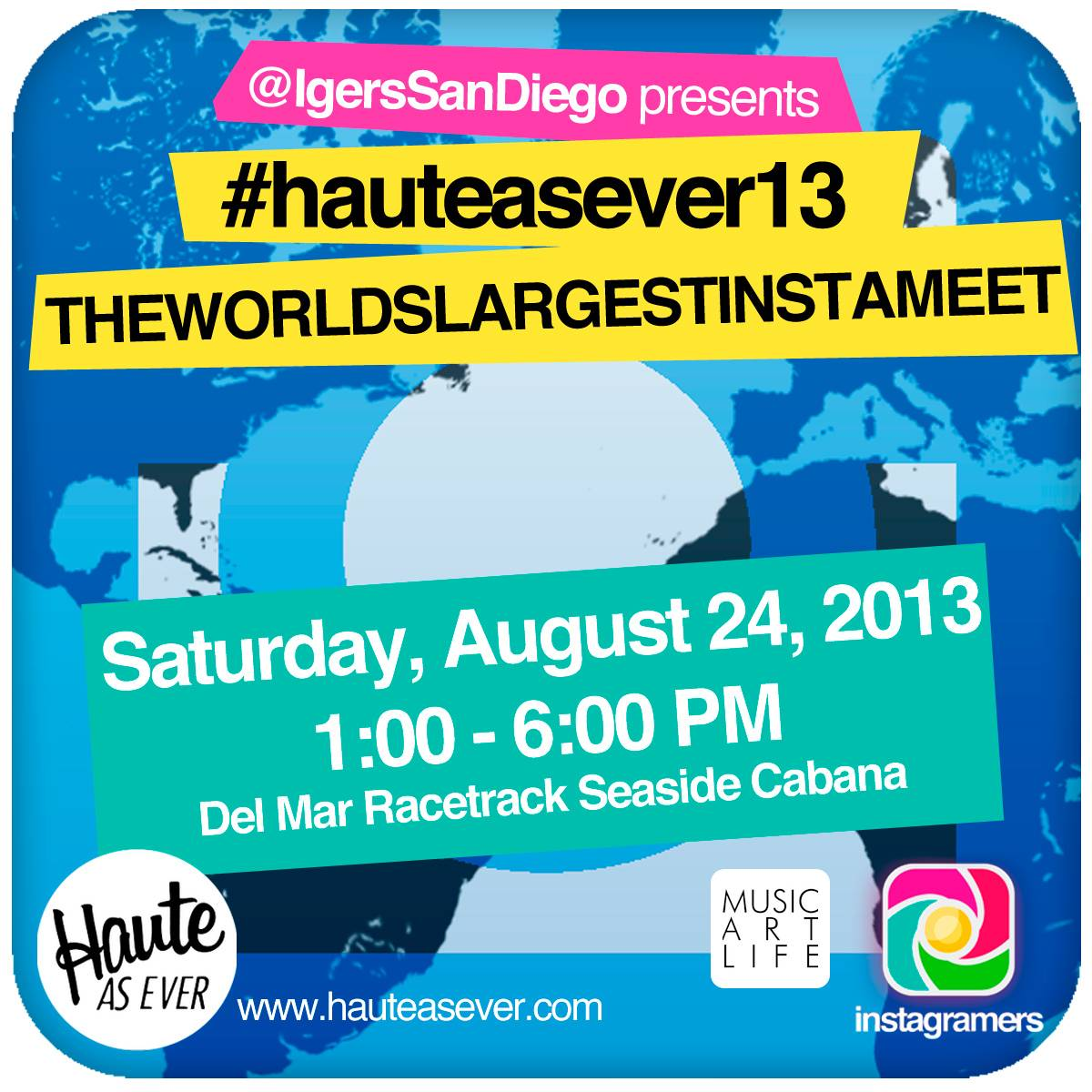 The World´s Largest Instameet with Instagramers San Diego at Haute As Ever 2013 (Video Announcement)