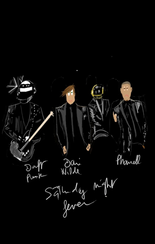 DANI WILDE art  DAFT PUNK feat PHARRELL WILLIAMS . GET LUCKY .
