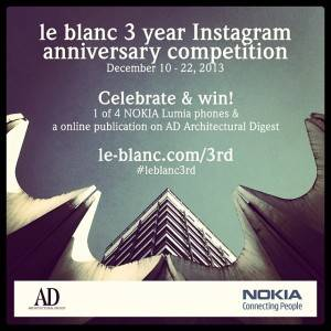 le_blanc third anniversary instagram contest