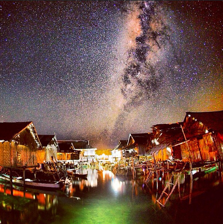 Milkyway over Sampela Indonesia.