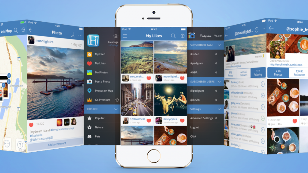 Padgram instagram viewer for iphone and ipad