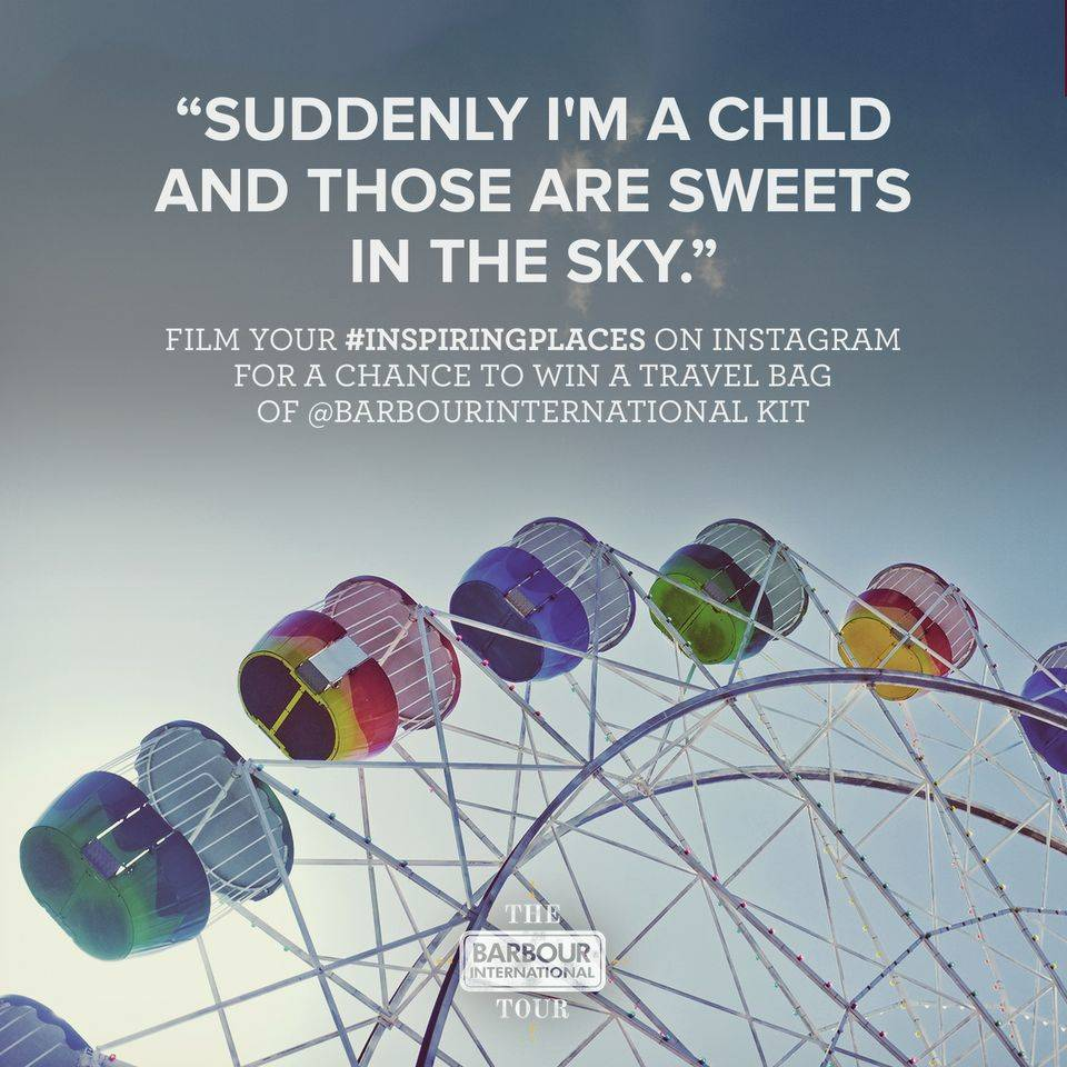 Barbour International are launching the Biggest Instagram Video Contest Today! #InspiringPlaces