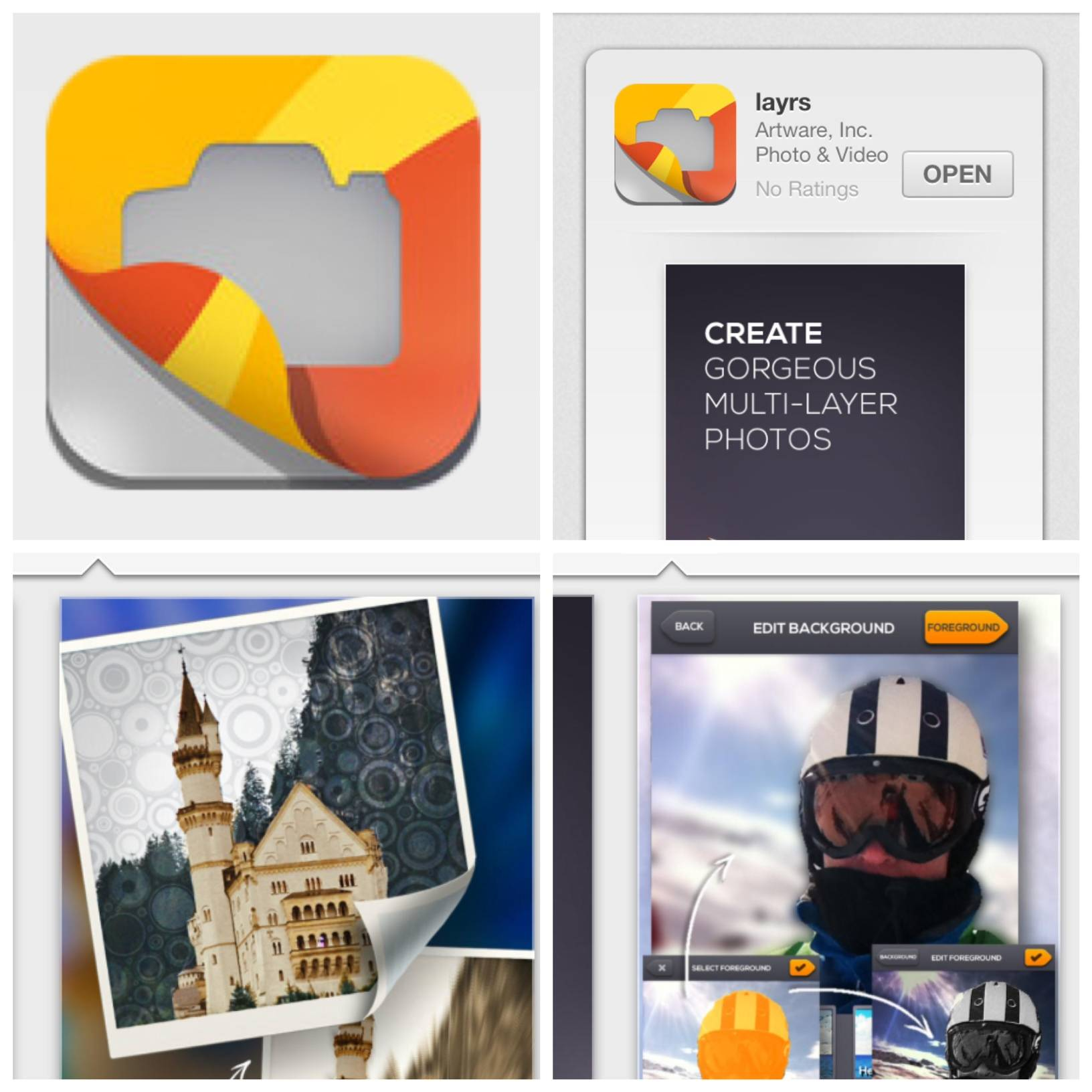 Layrs, a true multi-layer photo editing app!