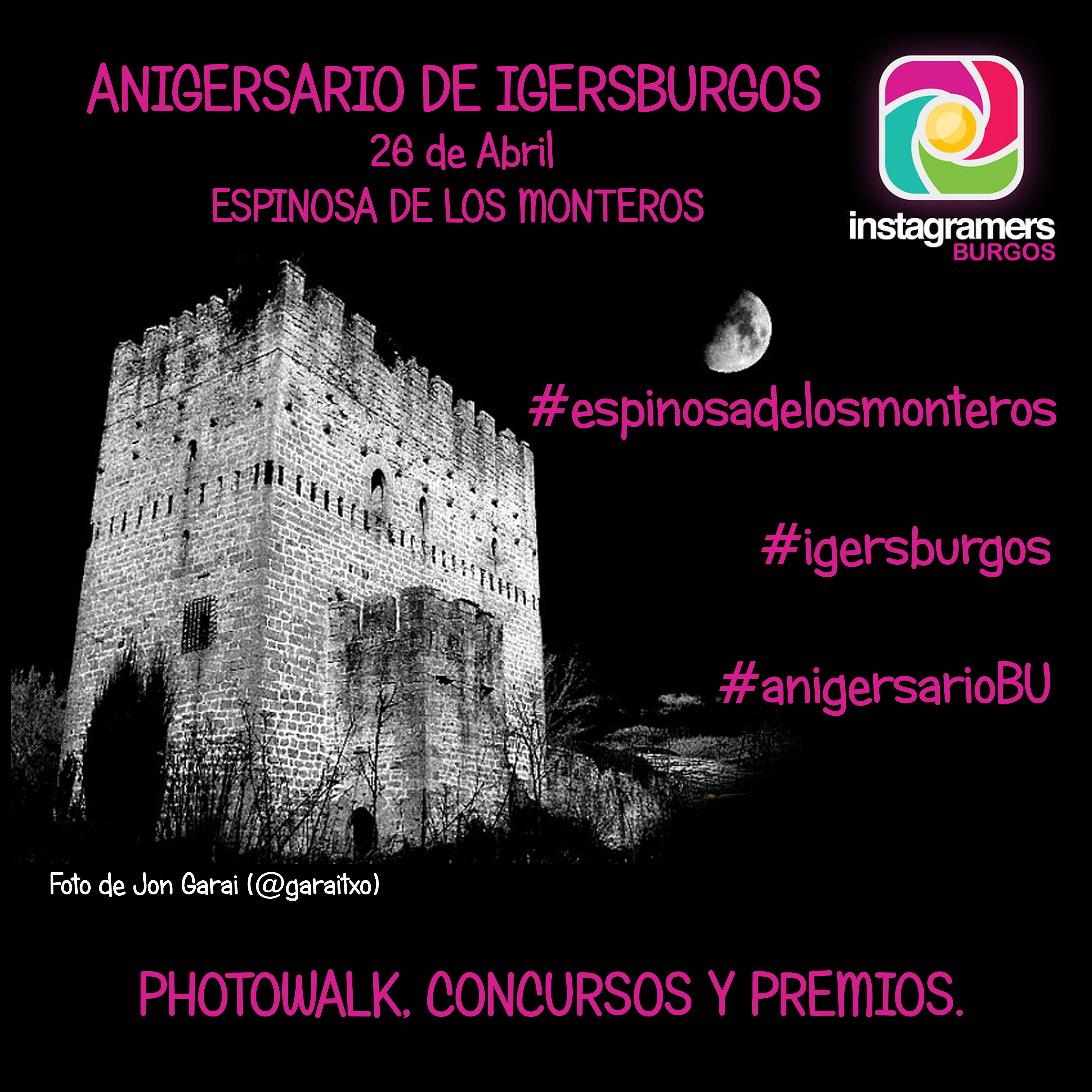 Celebra el Primer AnIgersario de Instagramers Burgos el 26 de abril