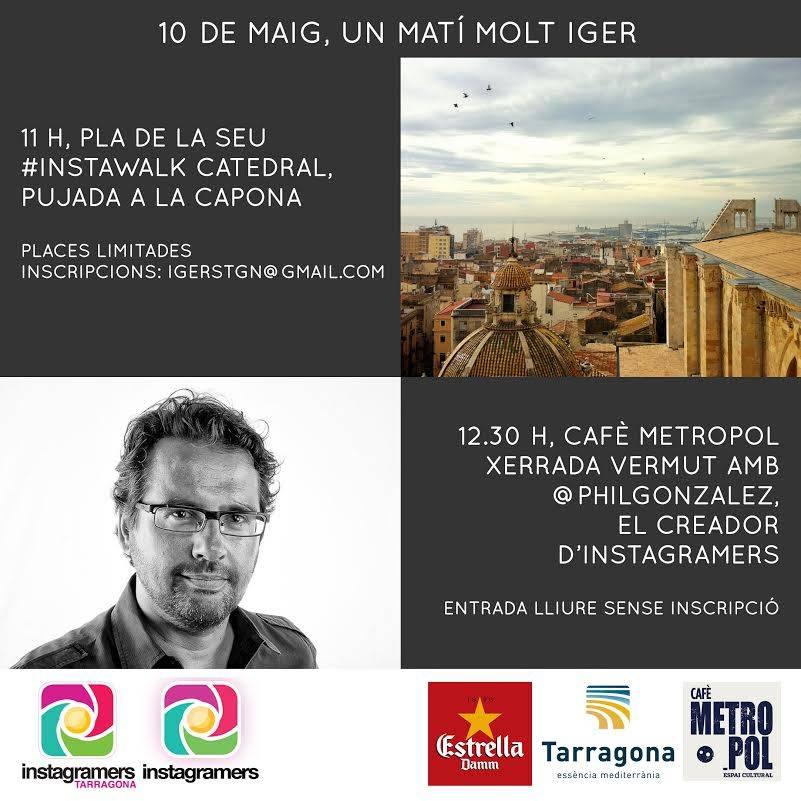 Instawalk con Tarragona Turisme y los Instagramers Tarragona el próximo sábado 10 de Mayo