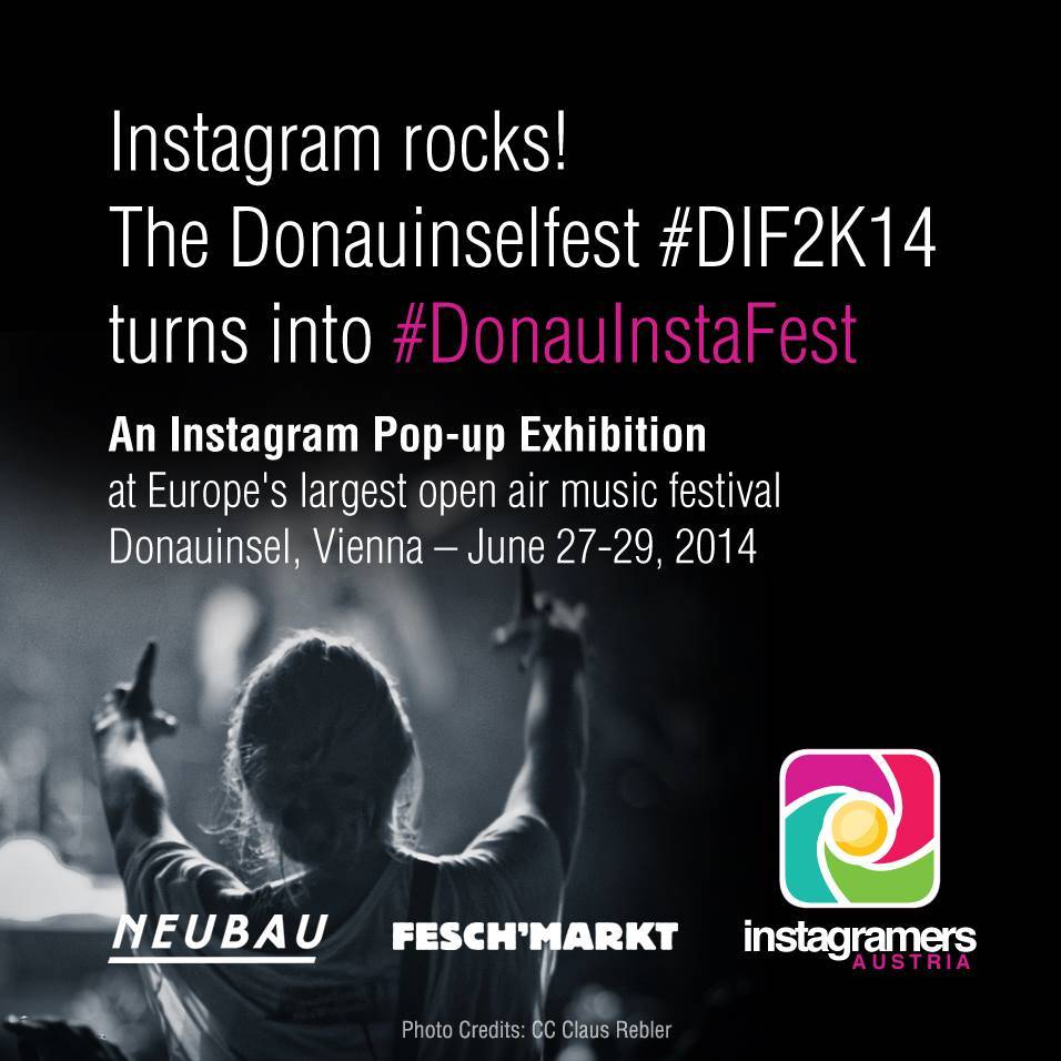 Exhibit your Instagram picture at the Donauinselfest with Instagramers Austria