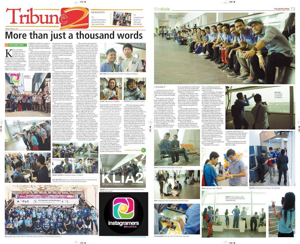 Instagramers Malaysia Featured at The New Sarawak Tribune.