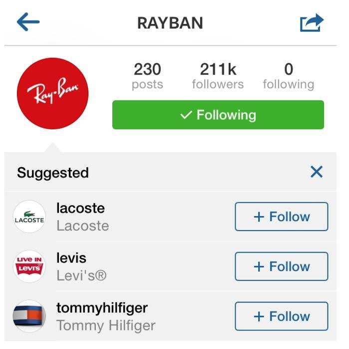 Mejoras en la lista de usuarios sugeridos en Instagram