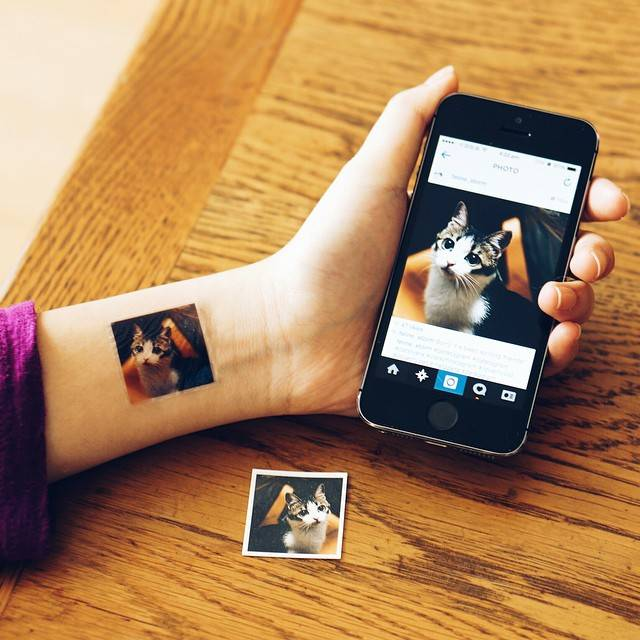 Create unique temporary tattoos from your own Instagram photos with Picattoo