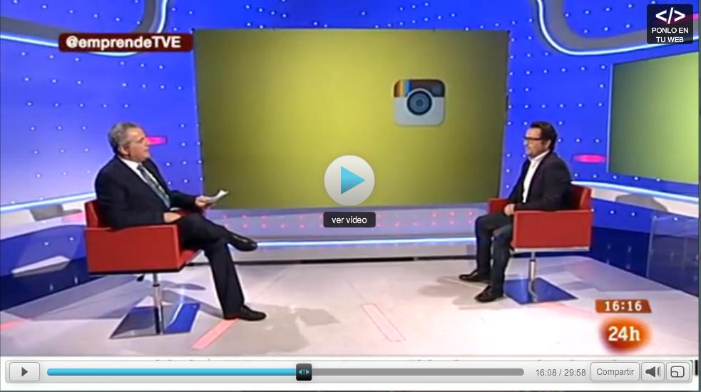 Instagramers en el programa Emprende de Televisión Española