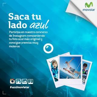 Participa al concurso #azulMovistar y gana premios muy moteros en Instagram