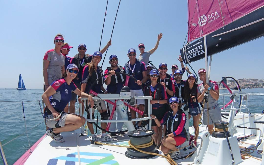 Instagramers with Team_SCA Boat at Volvo Ocean Race in Lisbon