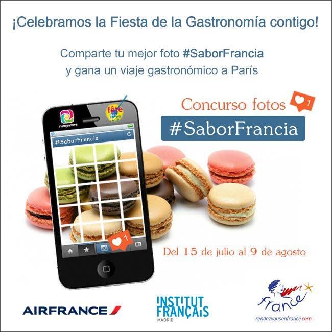 Sube tus fotos gastronómicas con #SaborFrancia y gana un viaje a Francia