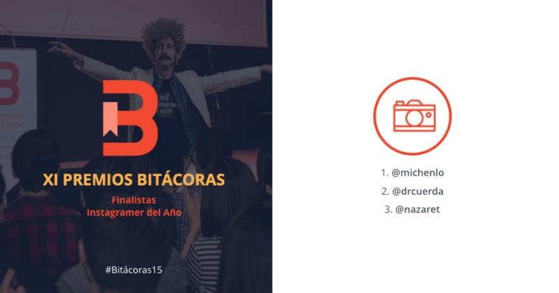 Ya tenemos los finalistas del premio al Instagramer del año de los Bitácoras